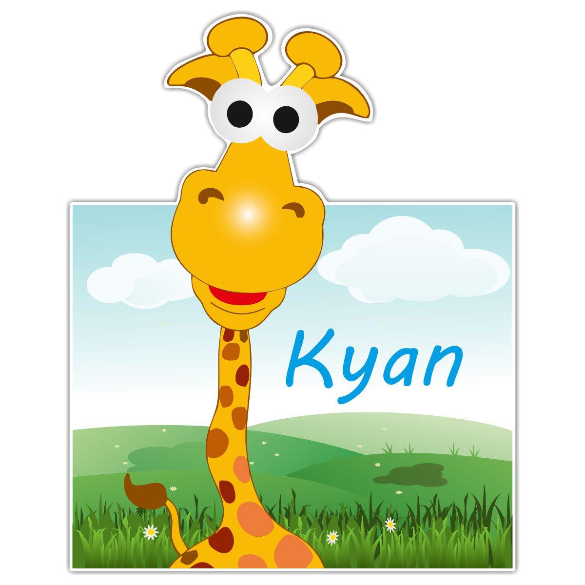 Geboortebord Fun Giraffe jongen