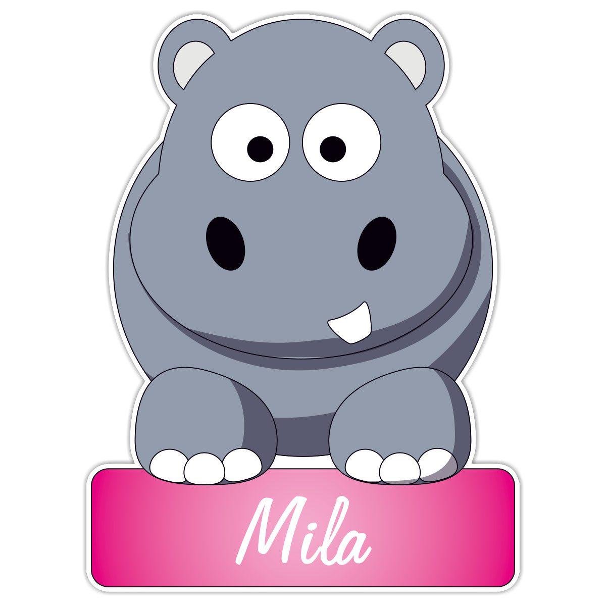 geboortebord Nijlpaard meisje