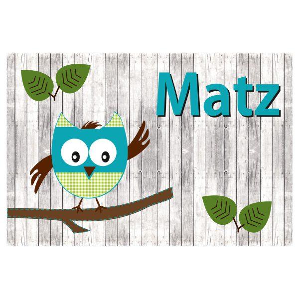 Geboortevlag Funny Owl jongen