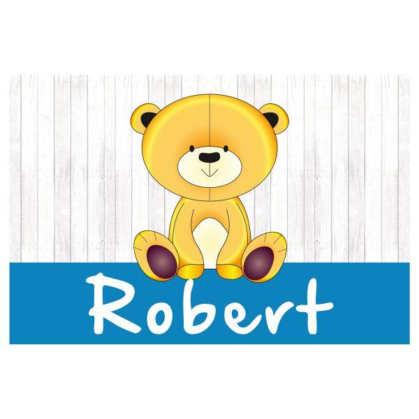 geboortevlag Teddy op hout jongen